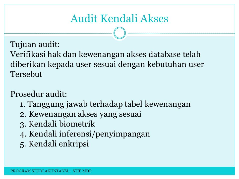 Audit Kendali Akses