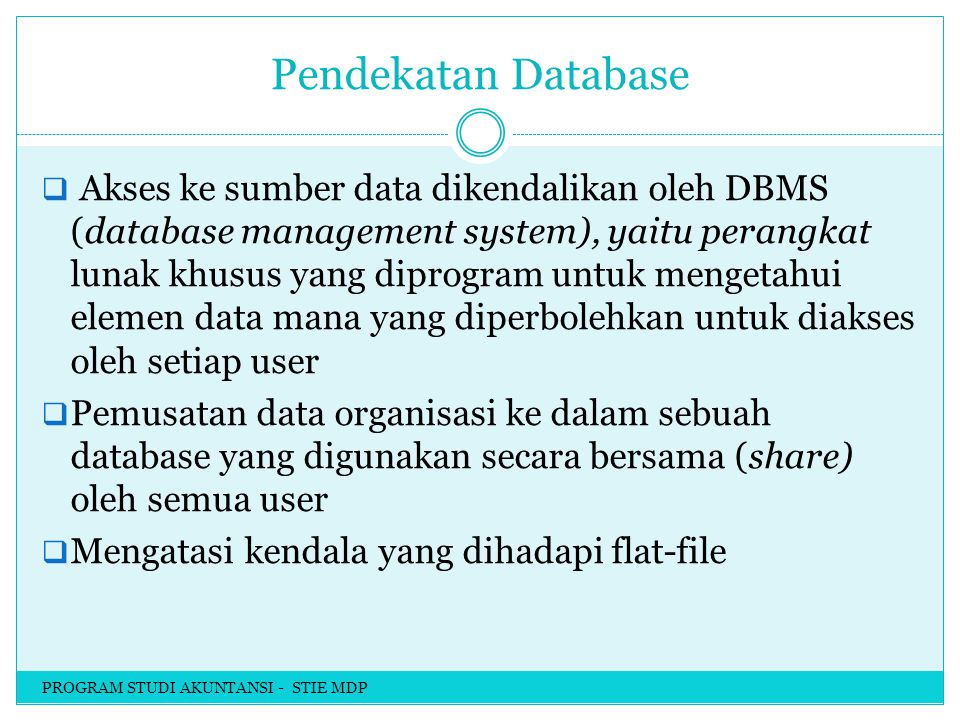 Pendekatan Database