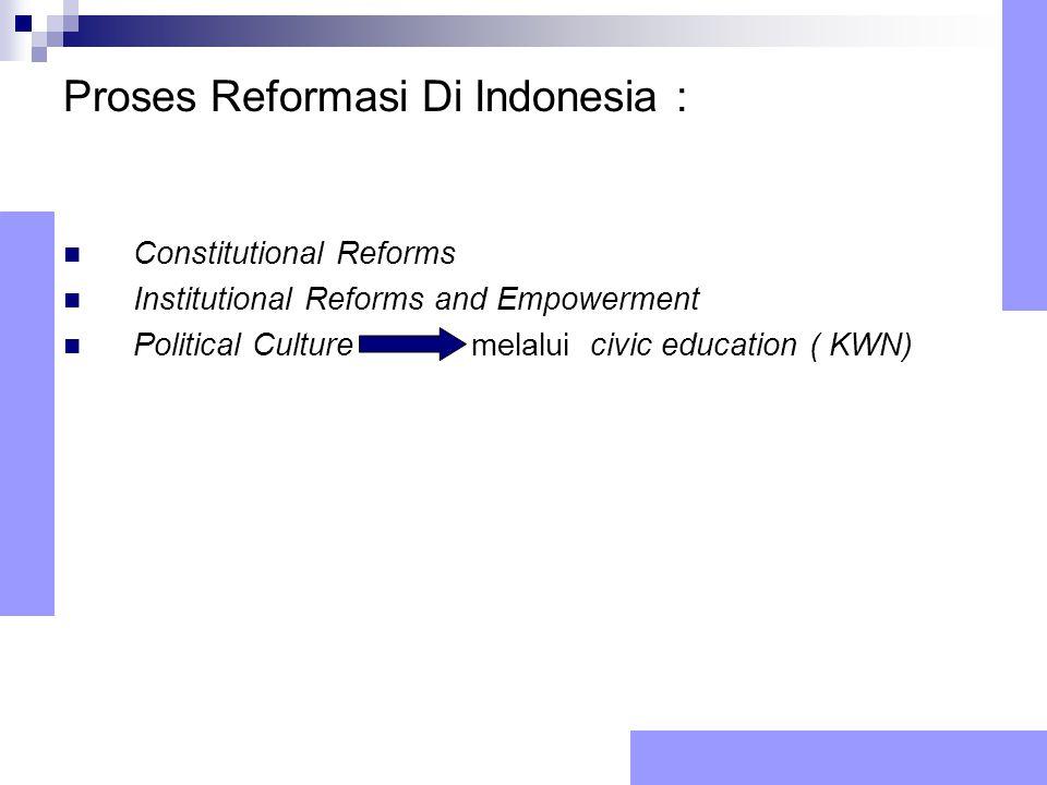 Proses Reformasi Di Indonesia :