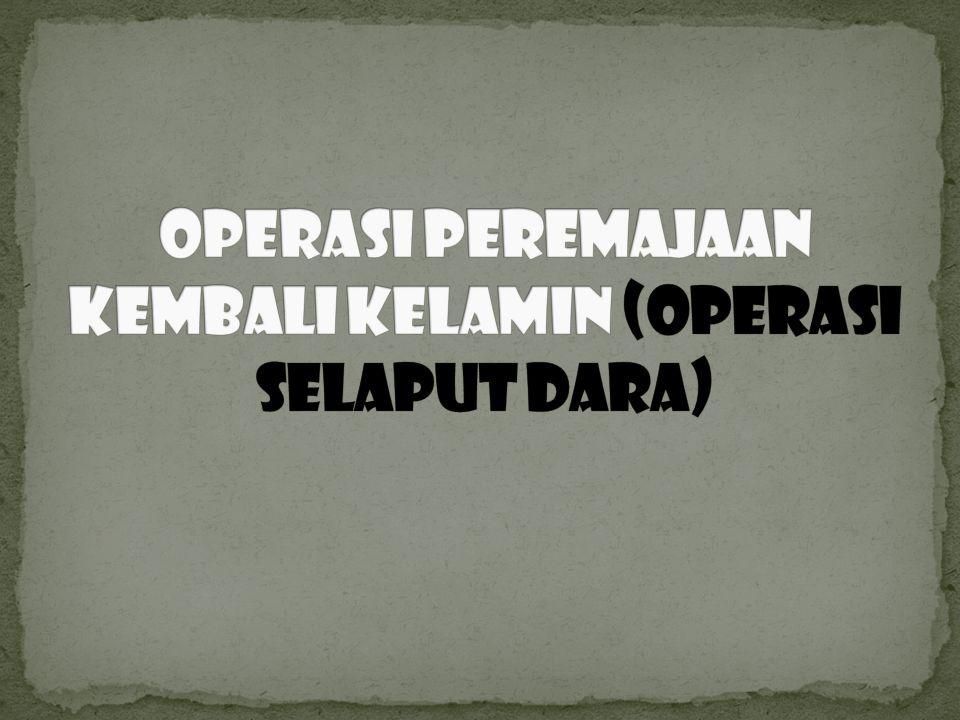 Operasi Peremajaan kembali kelamin (Operasi Selaput Dara)