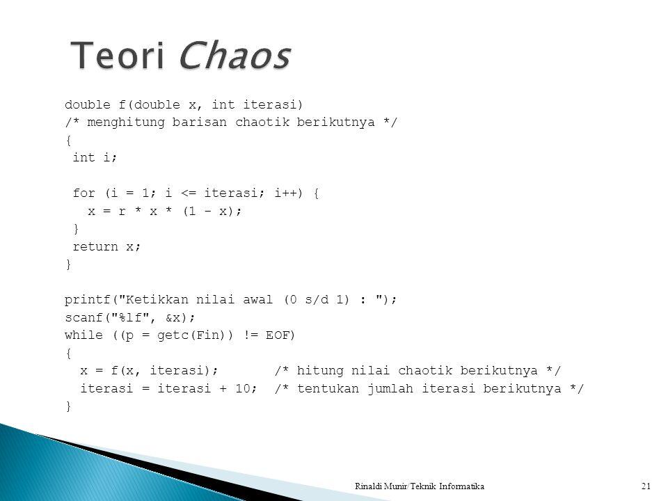 Teori Chaos
