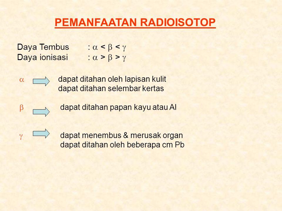 PEMANFAATAN RADIOISOTOP