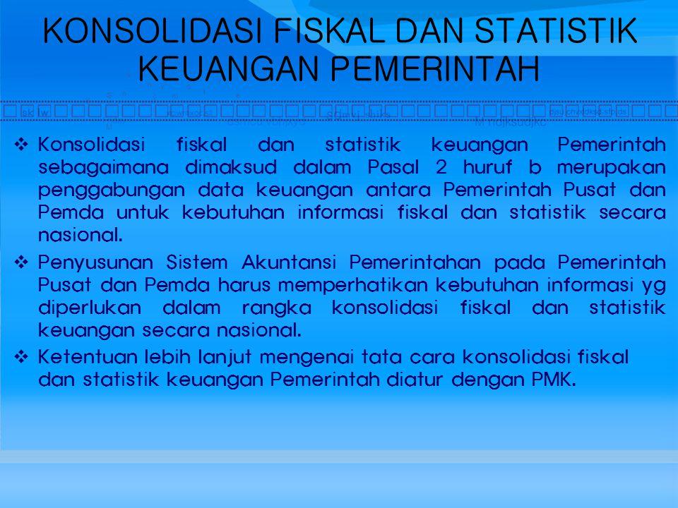 KONSOLIDASI FISKAL DAN STATISTIK KEUANGAN PEMERINTAH