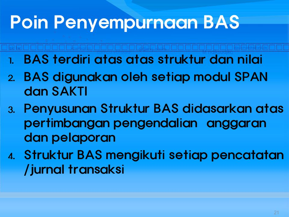 Poin Penyempurnaan BAS