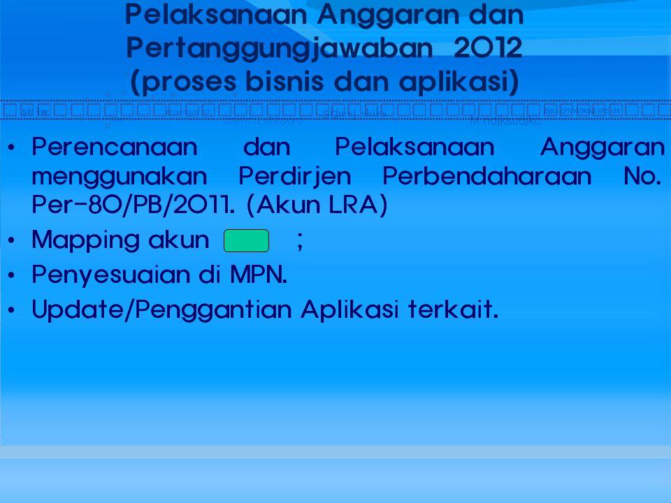 Pelaksanaan Anggaran dan Pertanggungjawaban 2012 (proses bisnis dan aplikasi)