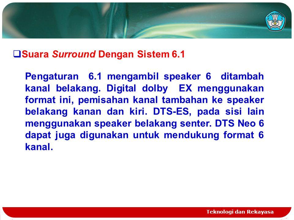 Suara Surround Dengan Sistem 6.1