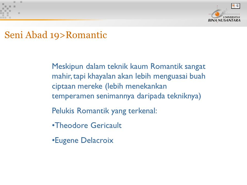 Seni Abad 19>Romantic