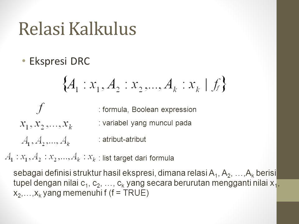 Relasi Kalkulus Ekspresi DRC