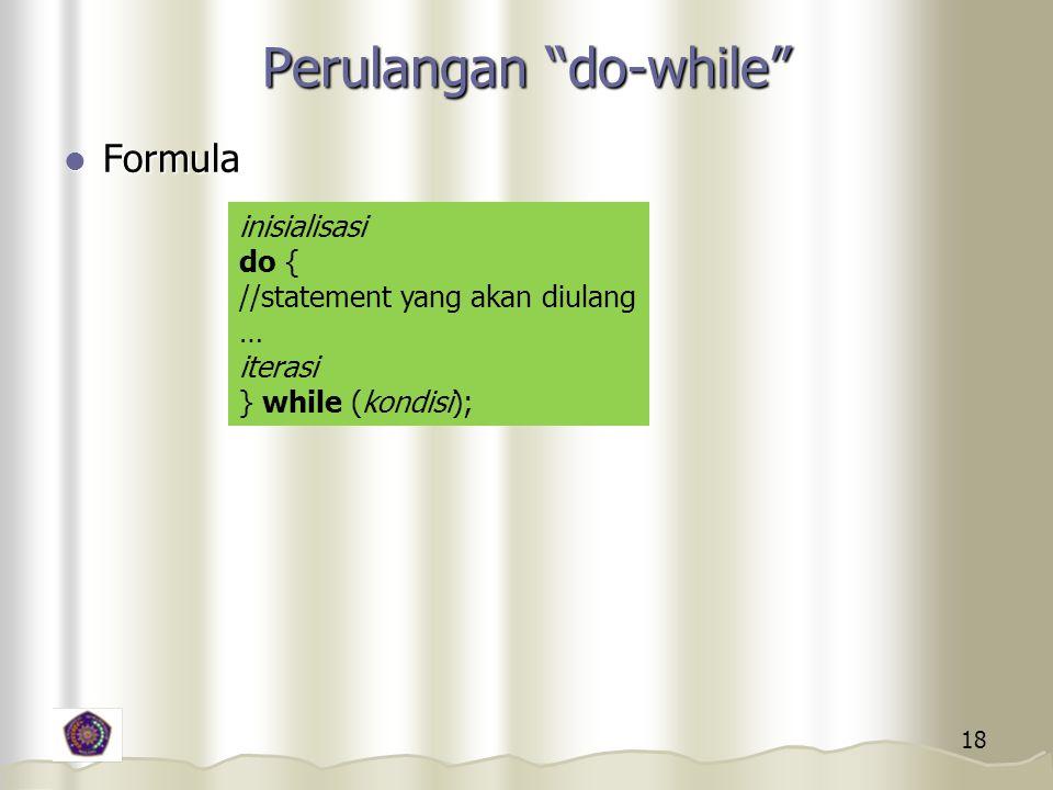 Perulangan do-while