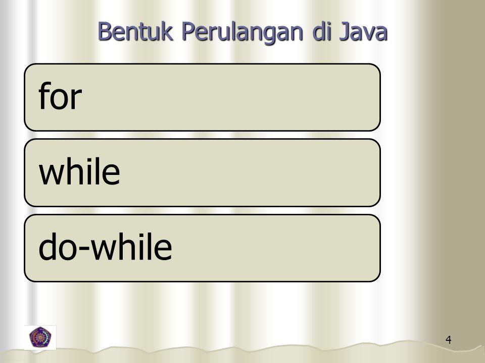 Bentuk Perulangan di Java