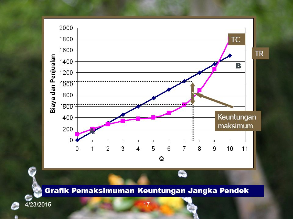 Grafik Pemaksimuman Keuntungan Jangka Pendek