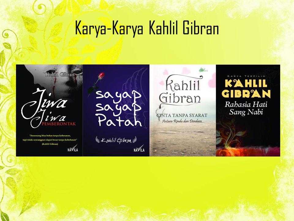 Karya-Karya Kahlil Gibran