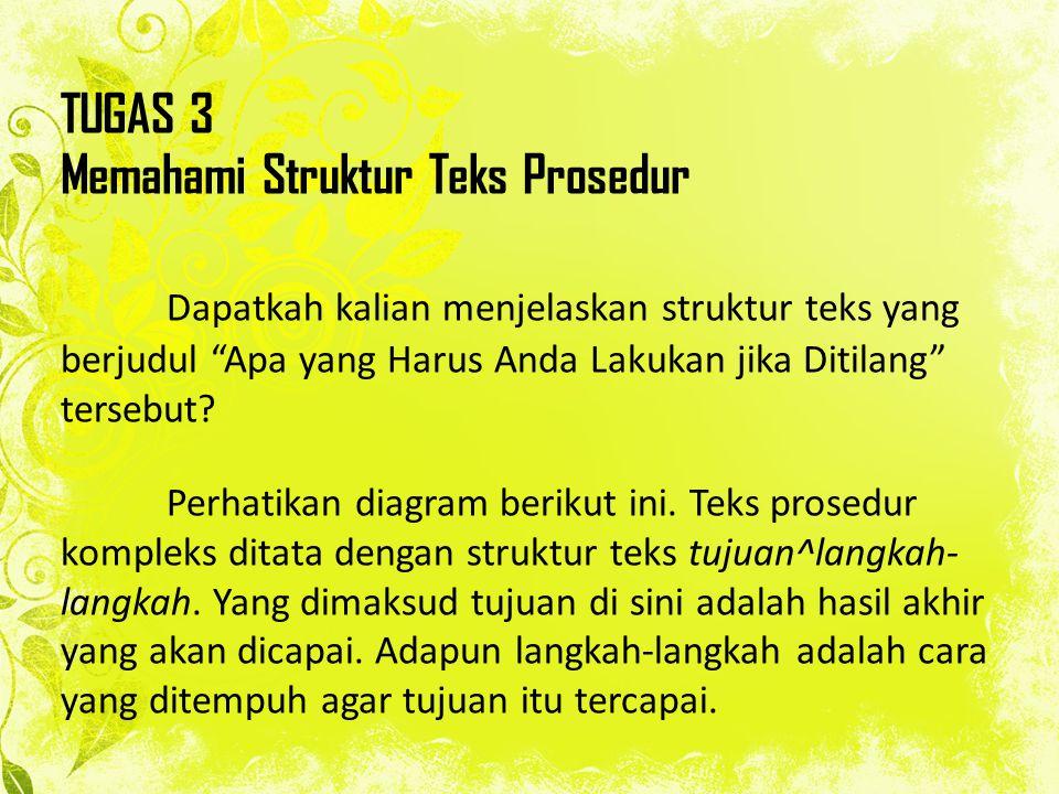 TUGAS 3 Memahami Struktur Teks Prosedur