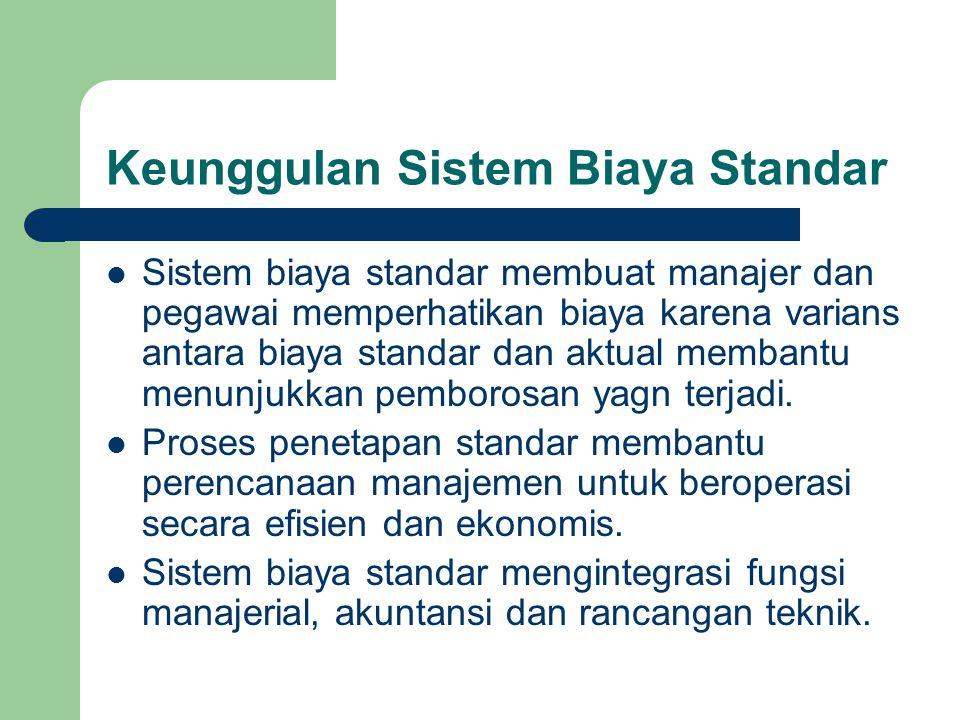 Keunggulan Sistem Biaya Standar