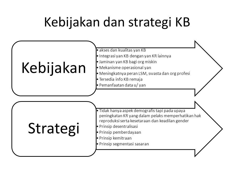 Kebijakan dan strategi KB