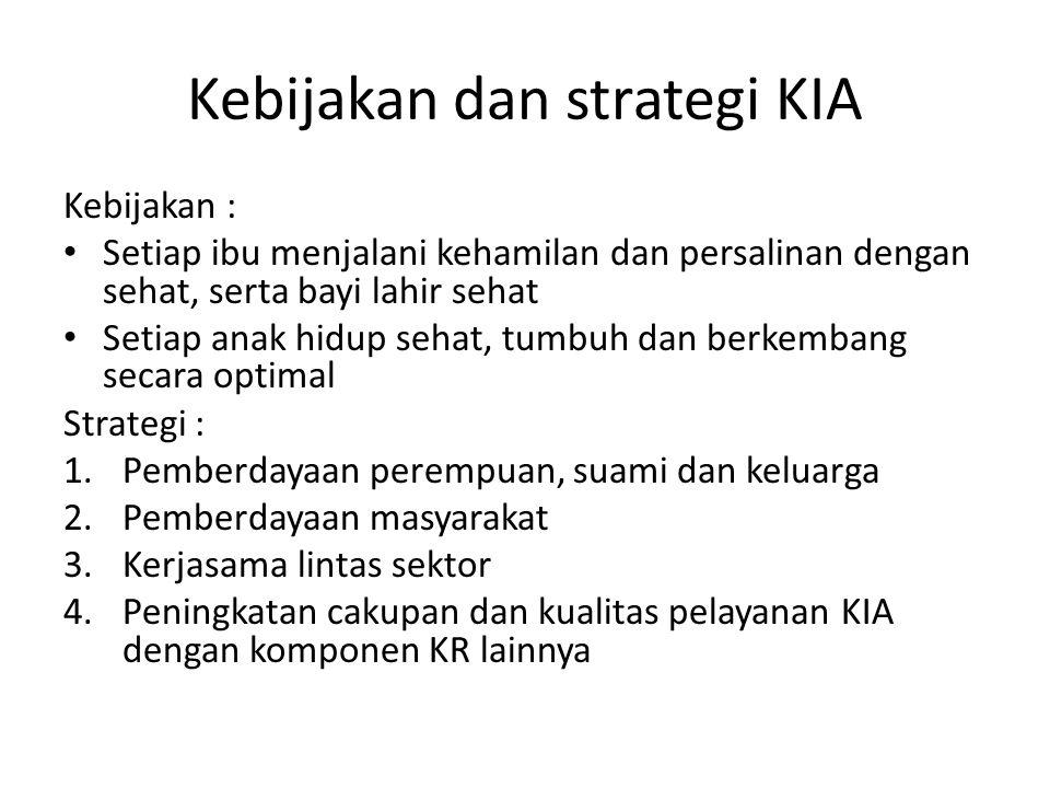 Kebijakan dan strategi KIA