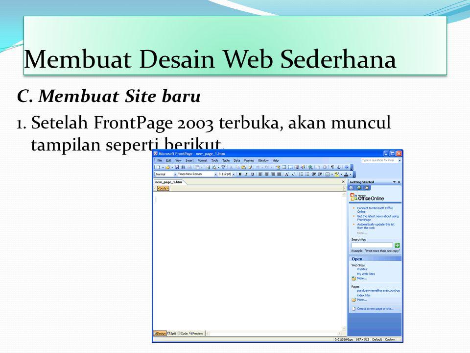 Membuat Desain Web Sederhana