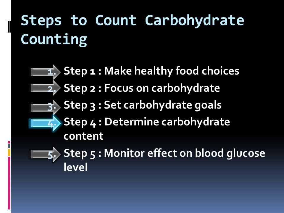 Steps to Count Carbohydrate Counting