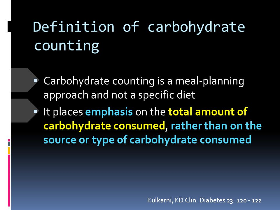 Definition of carbohydrate counting