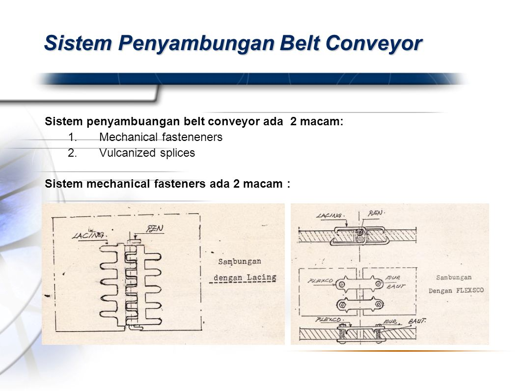 Sistem Penyambungan Belt Conveyor