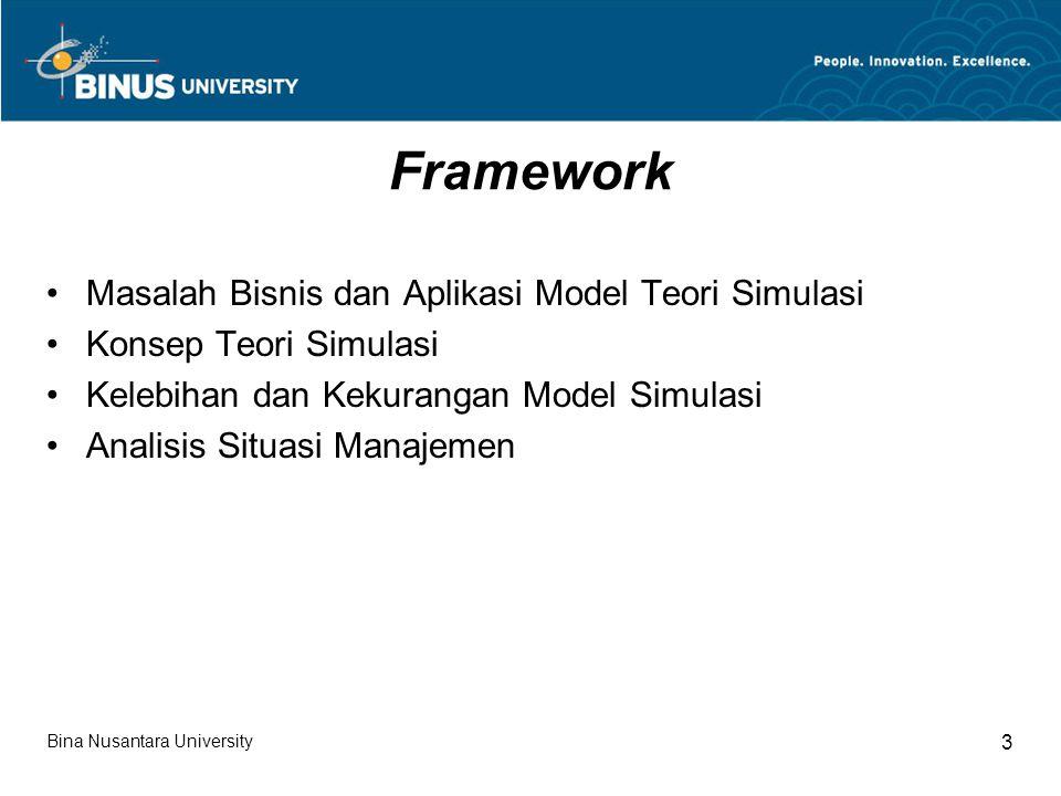 Framework Masalah Bisnis dan Aplikasi Model Teori Simulasi