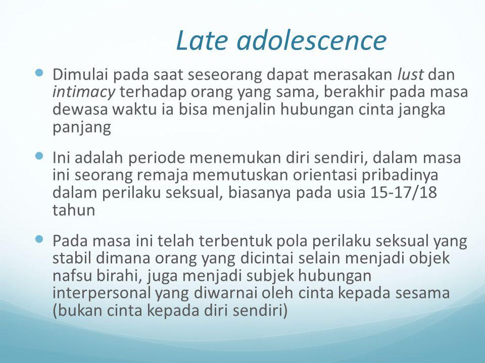 Late adolescence