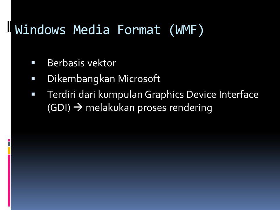 Windows Media Format (WMF)