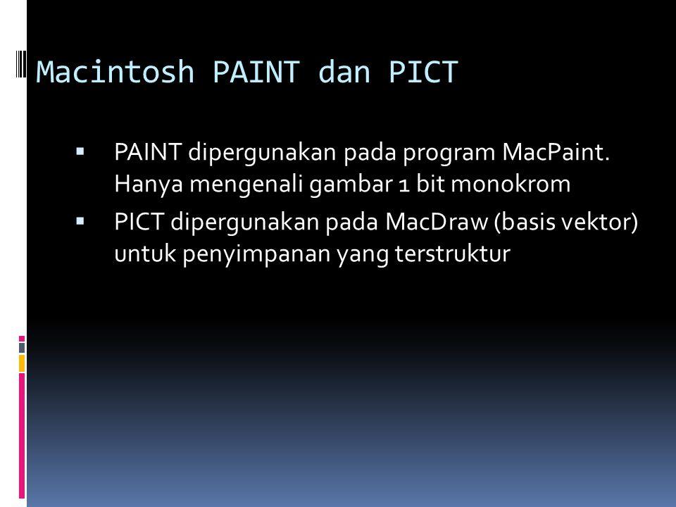 Macintosh PAINT dan PICT