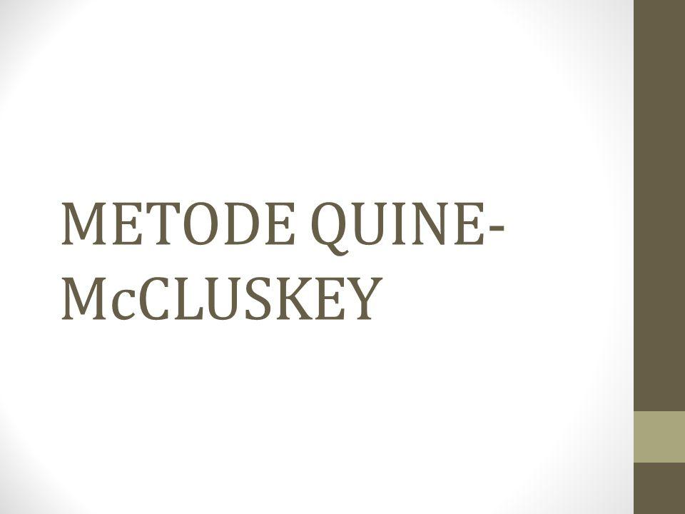 METODE QUINE-McCLUSKEY