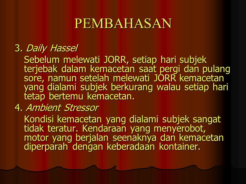 PEMBAHASAN 3. Daily Hassel