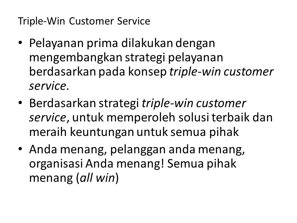 Triple-Win Customer Service