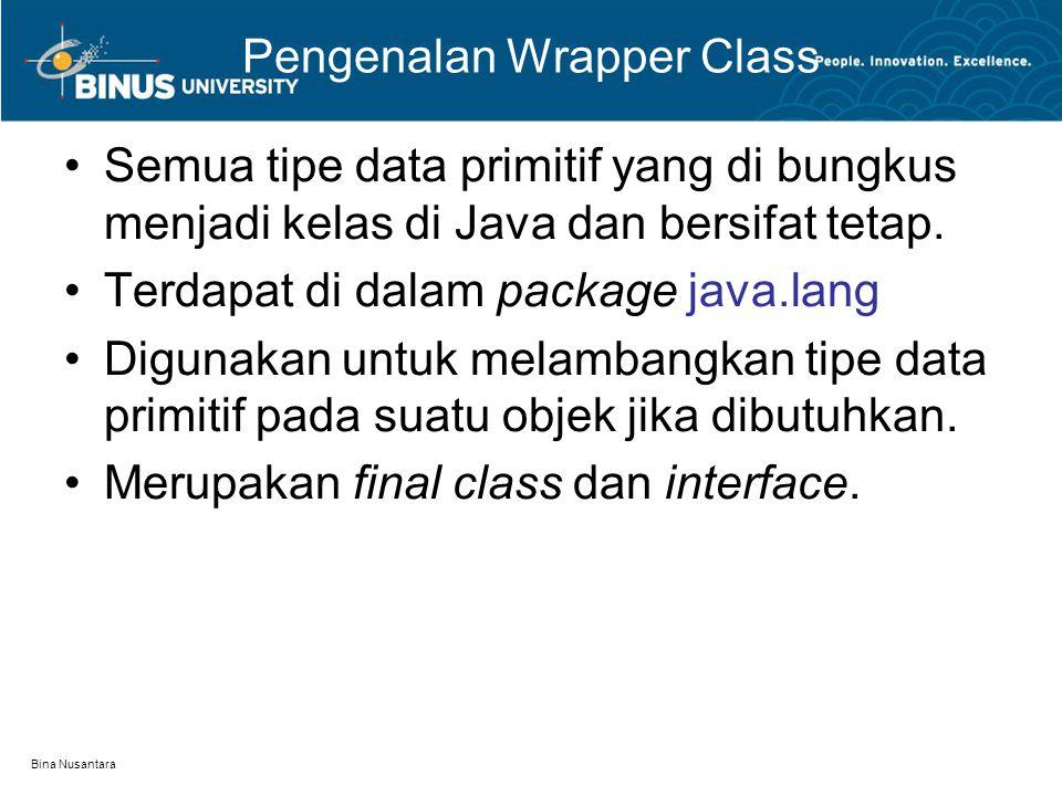 Pengenalan Wrapper Class