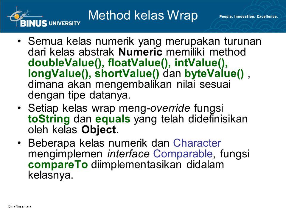 Method kelas Wrap