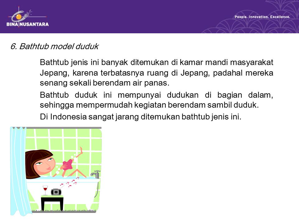 6. Bathtub model duduk