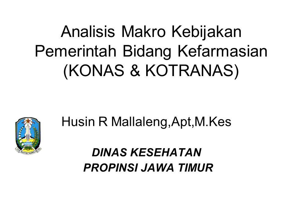 Husin R Mallaleng,Apt,M.Kes DINAS KESEHATAN PROPINSI JAWA TIMUR