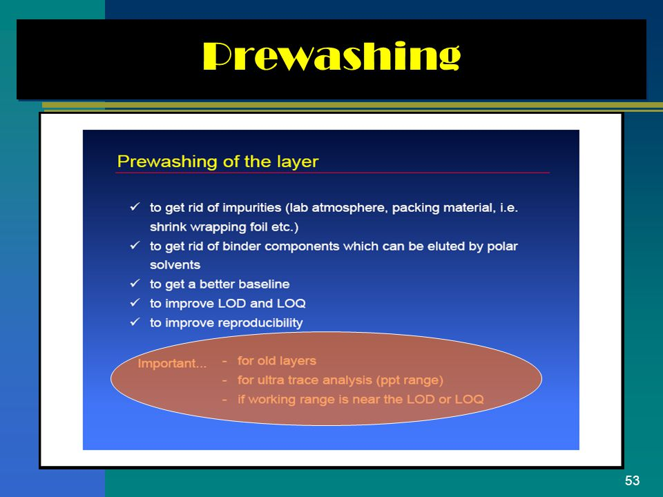 Prewashing