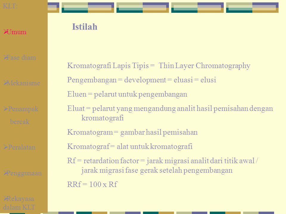 Istilah Kromatografi Lapis Tipis = Thin Layer Chromatography