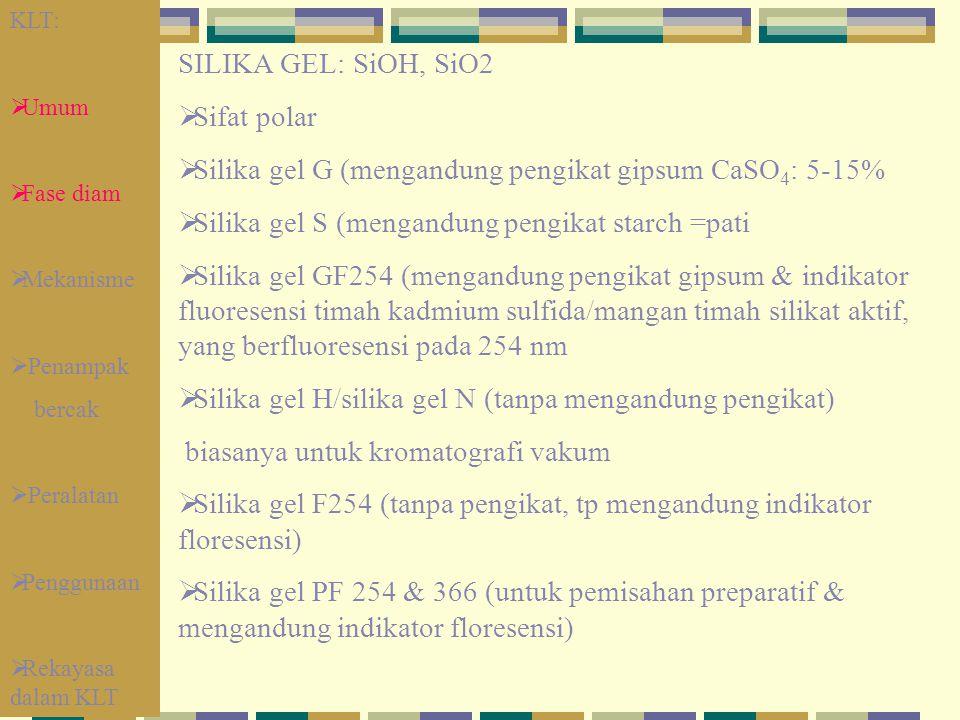 Silika gel G (mengandung pengikat gipsum CaSO4: 5-15%