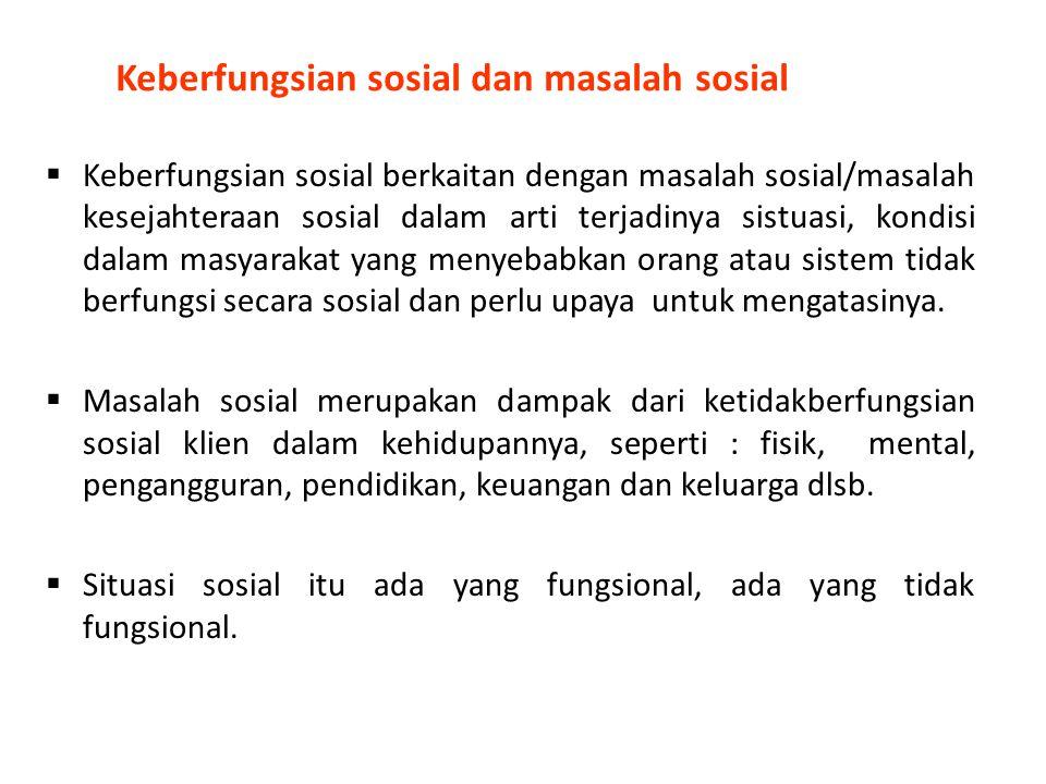 Keberfungsian sosial dan masalah sosial