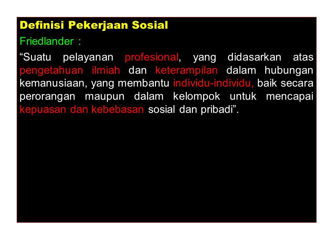 Definisi Pekerjaan Sosial