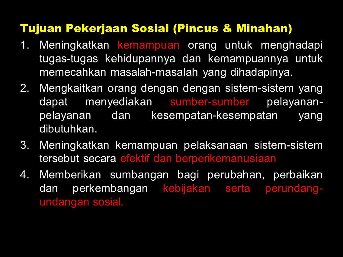 Tujuan Pekerjaan Sosial (Pincus & Minahan)