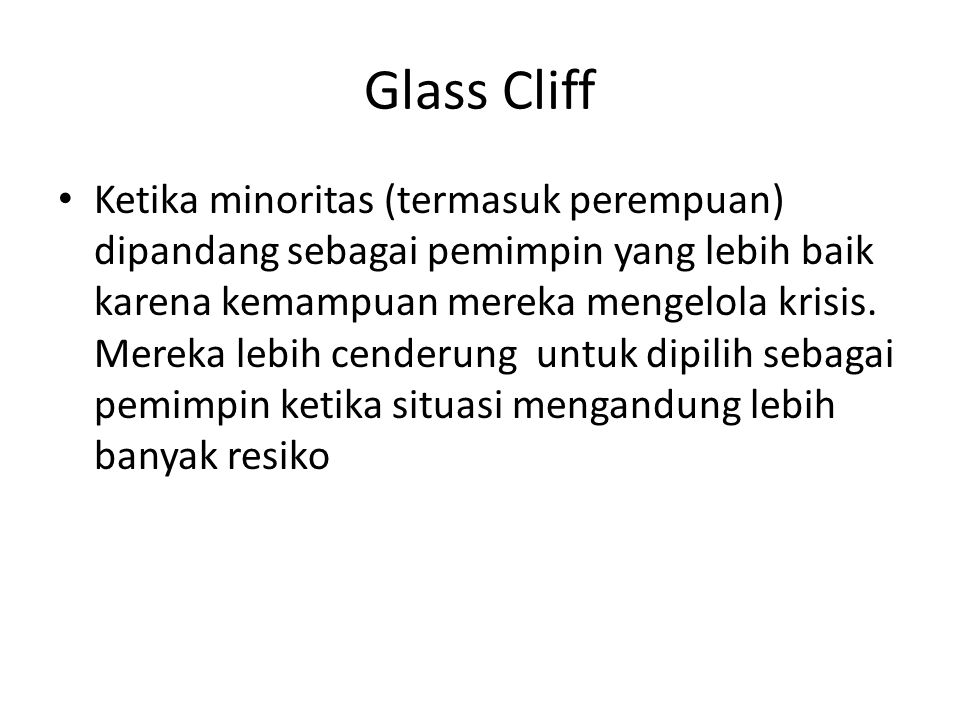 Glass Cliff