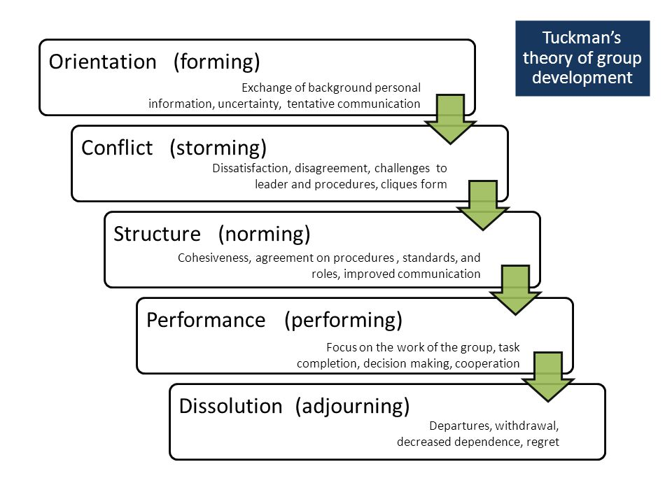 Tuckman's theory of group development