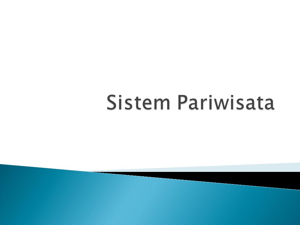 Sistem Pariwisata