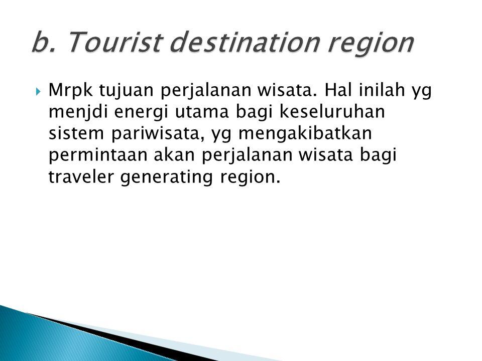 b. Tourist destination region