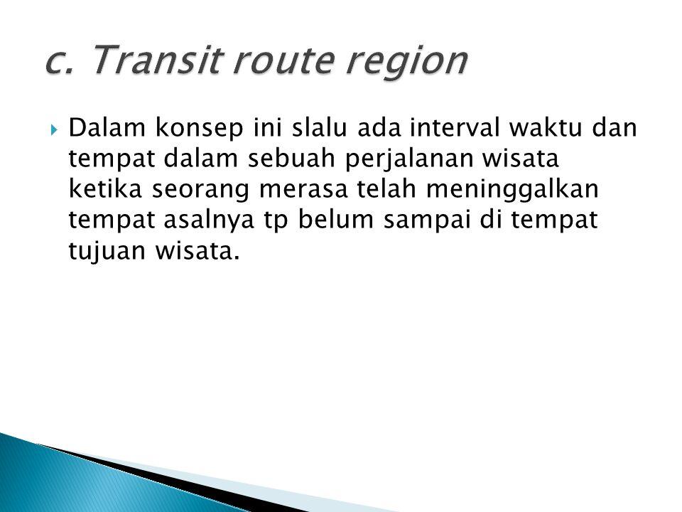 c. Transit route region