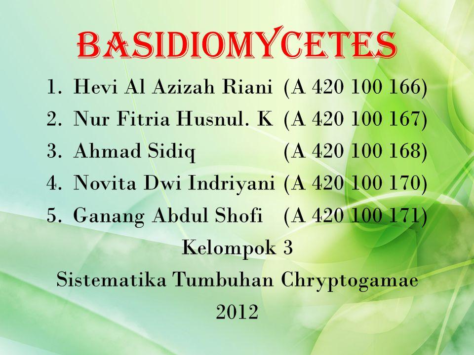 Basidiomycetes Hevi Al Azizah Riani (A 420 100 166)