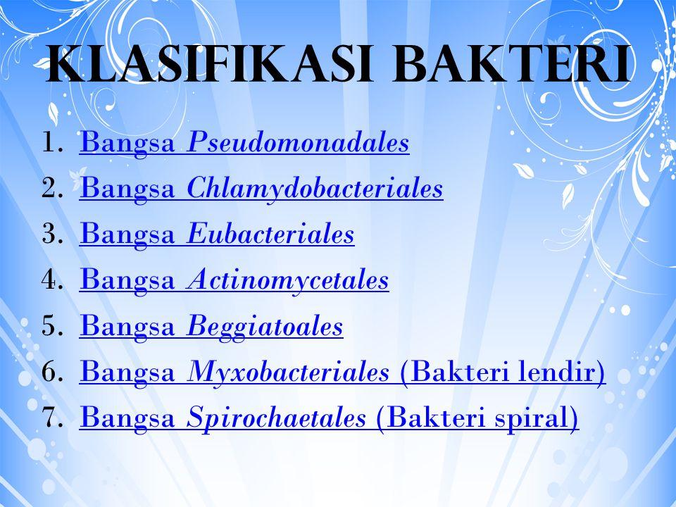 Klasifikasi Bakteri Bangsa Pseudomonadales Bangsa Chlamydobacteriales