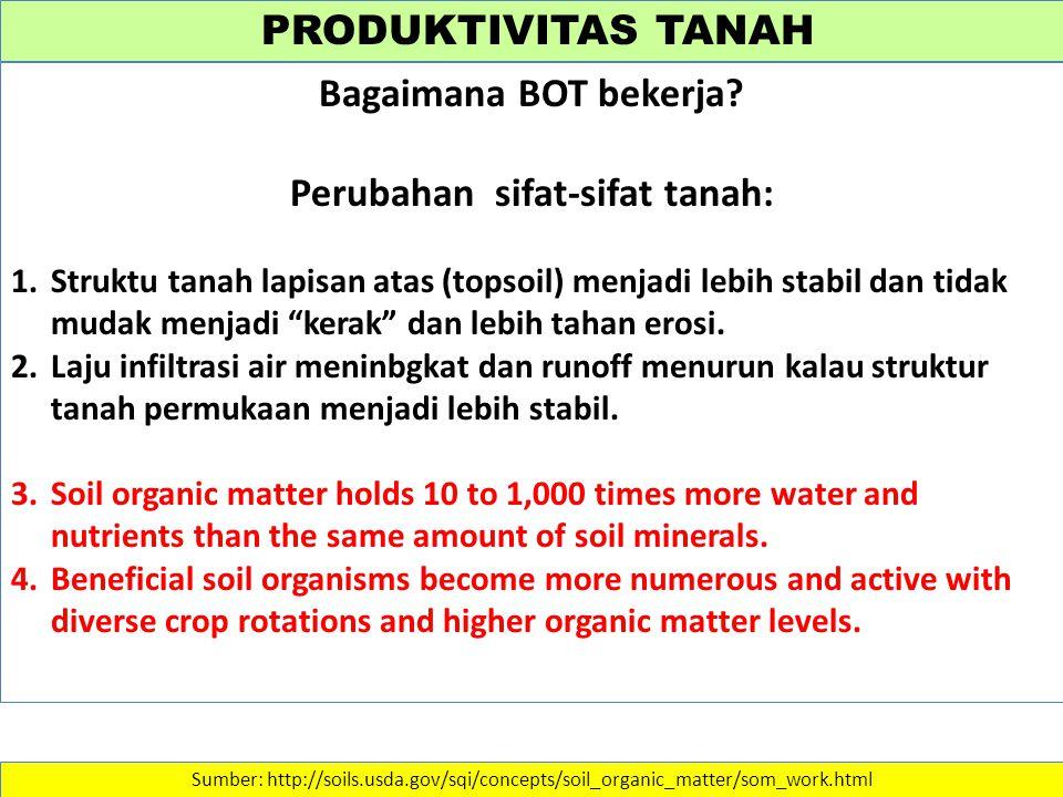 Perubahan sifat-sifat tanah: