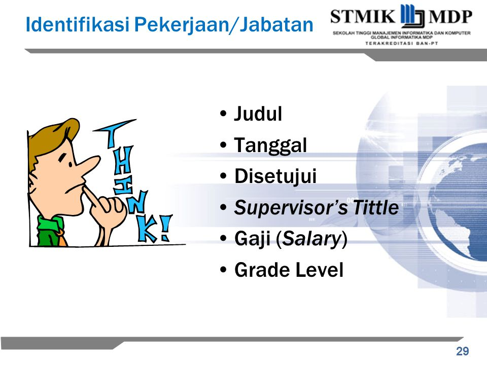 Identifikasi Pekerjaan/Jabatan